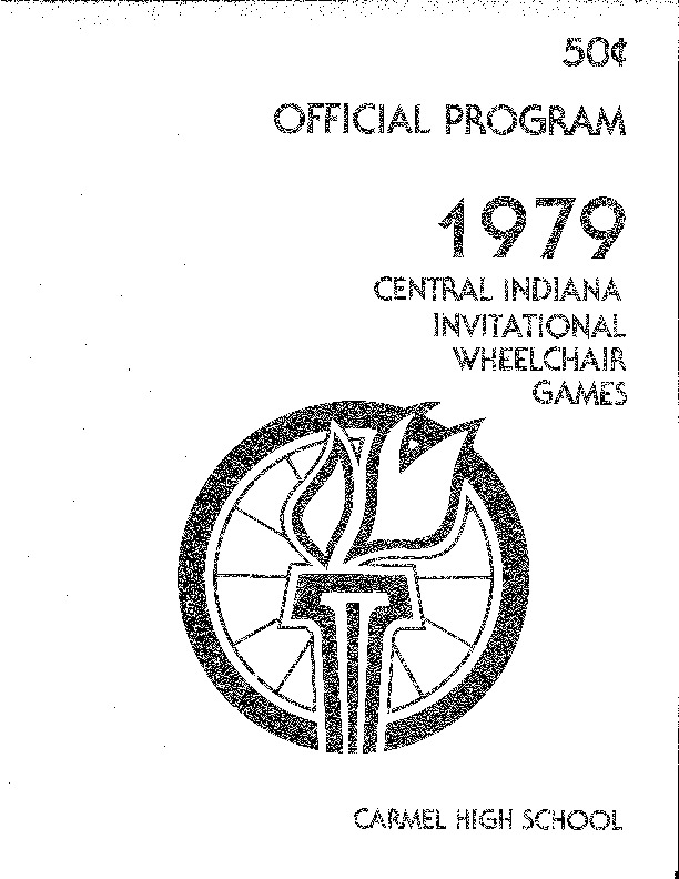 1979 Central Indiana Invitational Wheelchair Games Official Program