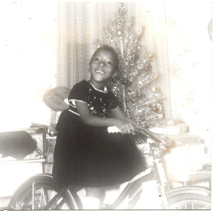 Betty Williams with Bicycle