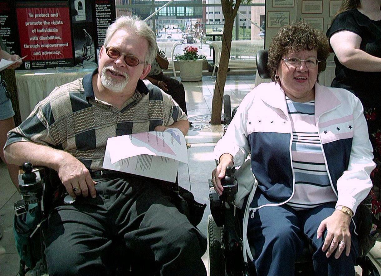 Gary and Sharon Byrkett at 10th ADA Celebration