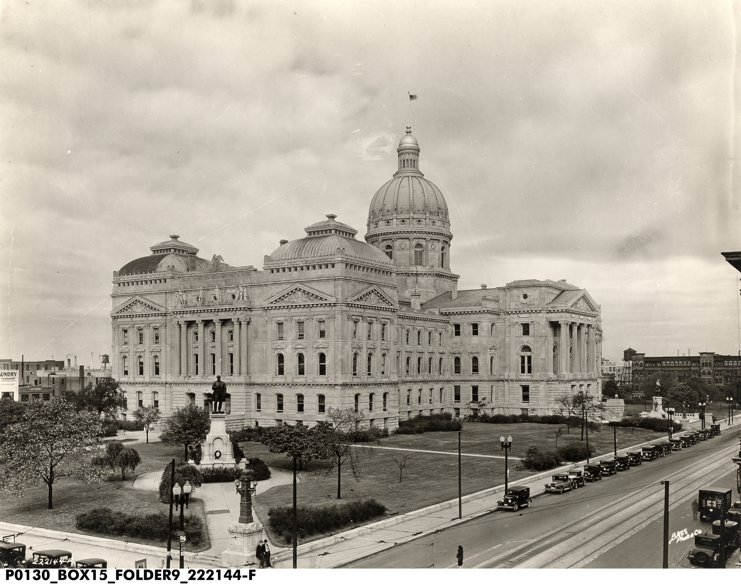 Aerial View of the State House from the Southeast Includes a View of the Grounds, 1931