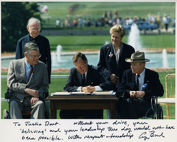 President George H.W. Bush Signing the Americans with Disabilities Act