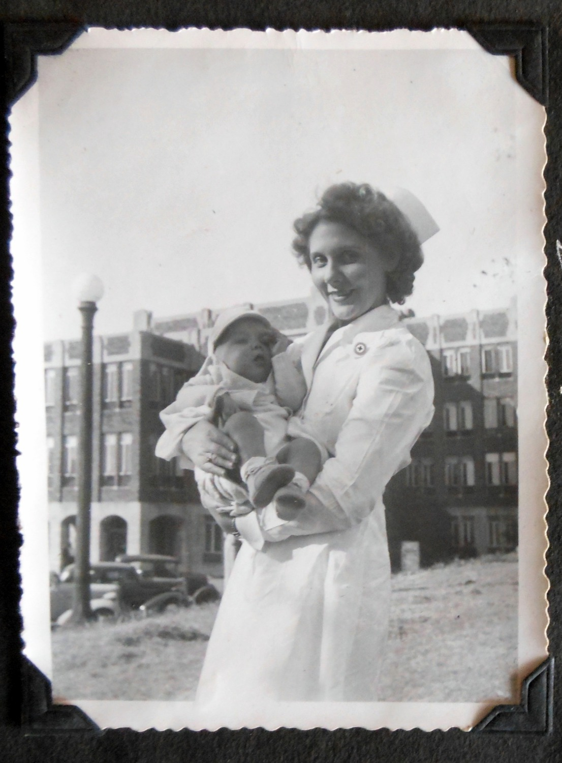 Thomas Hancock with Nurse at General Hospital