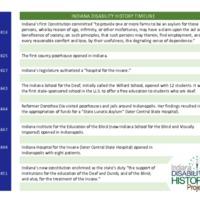 Indiana Disability History Timeline