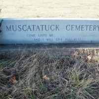 Muscatatuck Cemetery Entrance